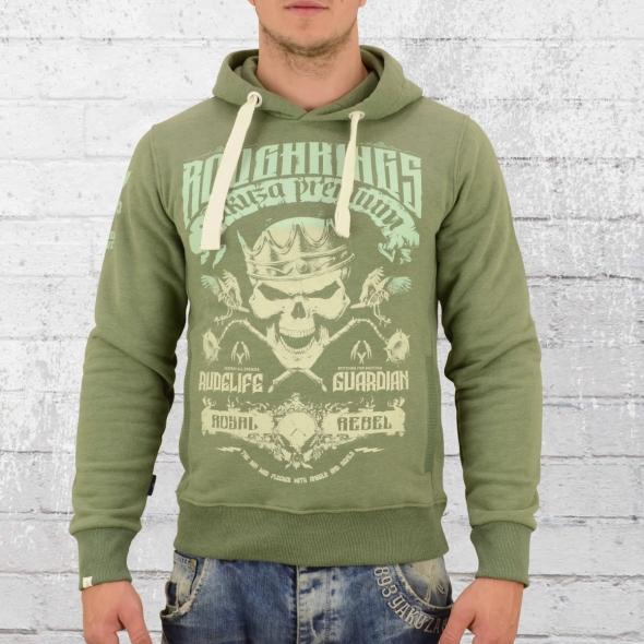 Yakuza Premium Herren Kapuzensweater Roughkings grün melange