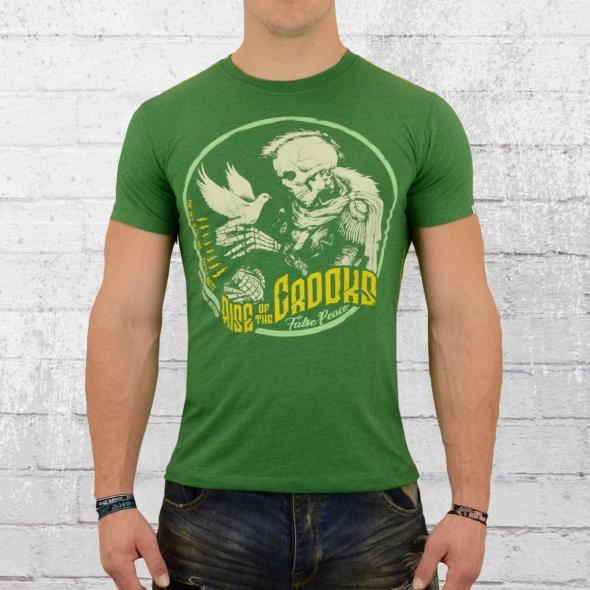 Yakuza Premium Herren T-Shirt False Peace grün