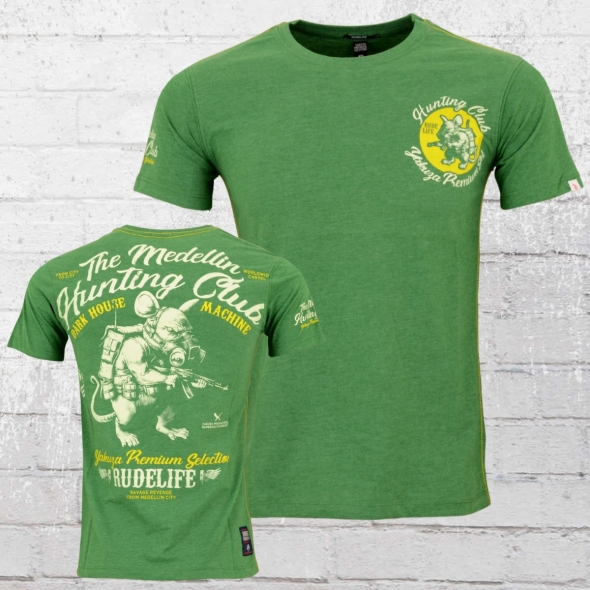 Yakuza Premium Herren T-Shirt Hunting Club grün