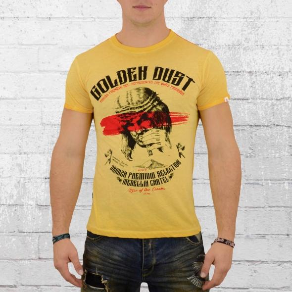 Yakuza Premium Herren T-Shirt VIN 300 Golden Dust gelb