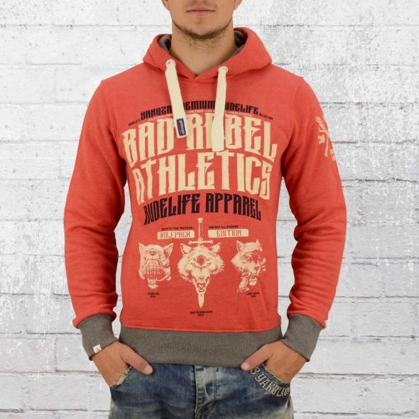 Yakuza Premium Kapuzen Sweater Bad Rebel 2324 rot melange XL