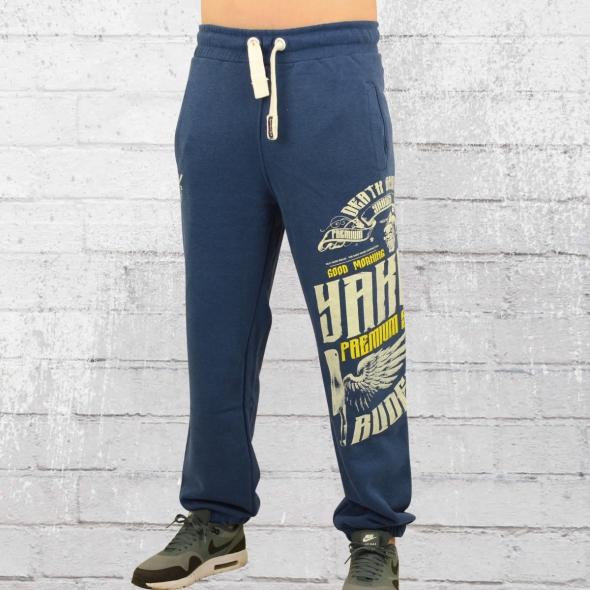 Yakuza Premium Männer Jogginghose YPJO 2331 blau