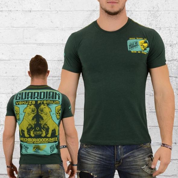 Yakuza Premium Männer T-Shirt Neighborhood Kingz grün