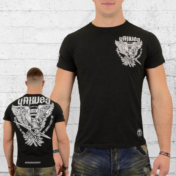 Yakuza T-Shirt Männer Eagle TSB 12020 schwarz