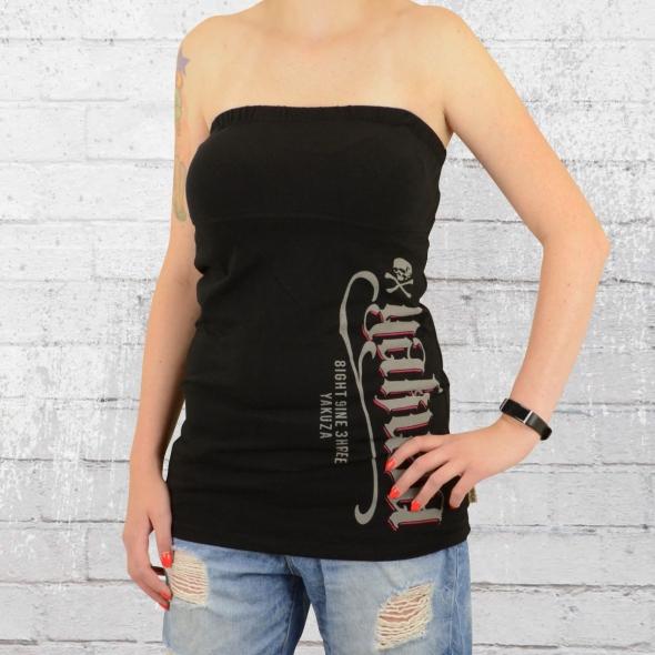 Yakuza Top Frauen Bandeau Shirt Claim schwarz