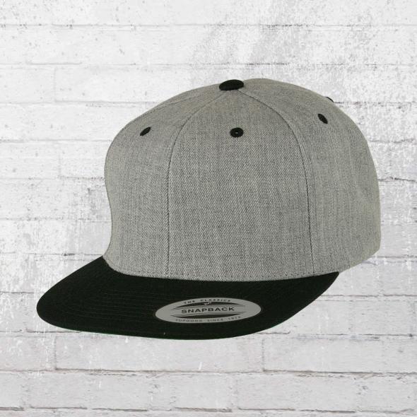 Yupoong Classics Kappe Snapback 2-Tone Cap grau schwarz