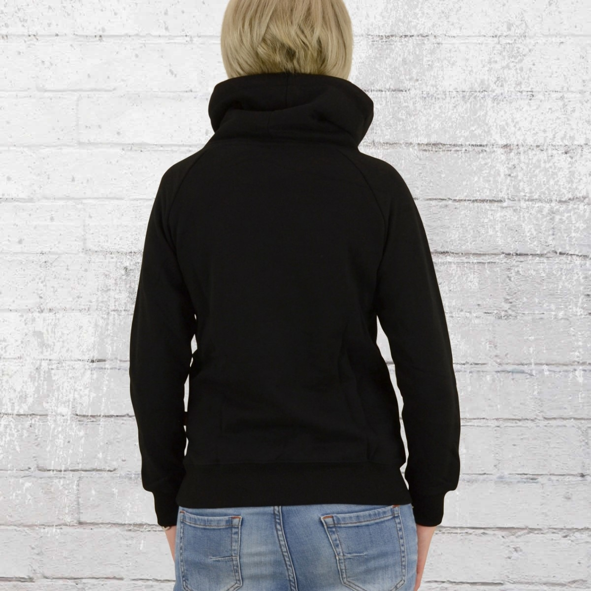 London Ladies Order Place NowLonsdale Sweater Pitch Black oCBedrWEQx
