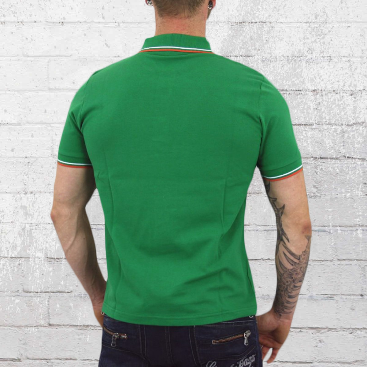 Authentic Black And Neon Green Polo Shirt Af195 Bff1a