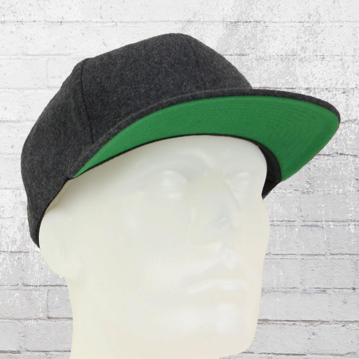 Order now | Yupoong by Flexfit Melton Wool Snapback Cap dark