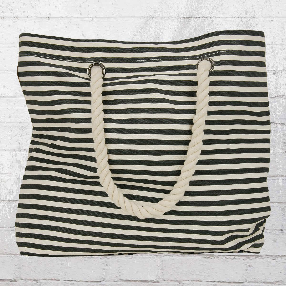 jetzt bestellen billabong damen strand tasche essential bag stripes schwarz weiss krasse. Black Bedroom Furniture Sets. Home Design Ideas
