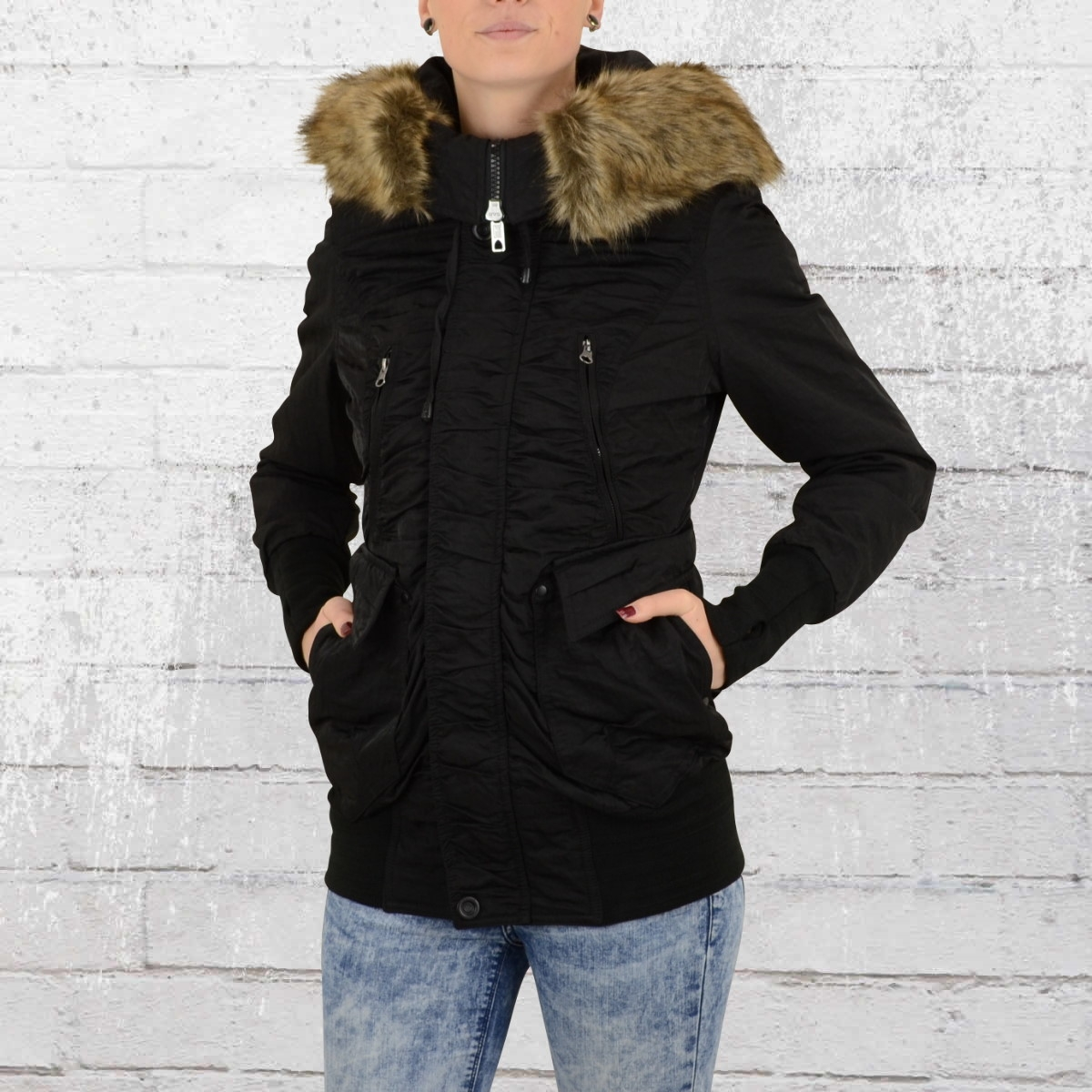 jetzt bestellen jetlag damen parka rs 99a winterjacke schwarz krasse. Black Bedroom Furniture Sets. Home Design Ideas