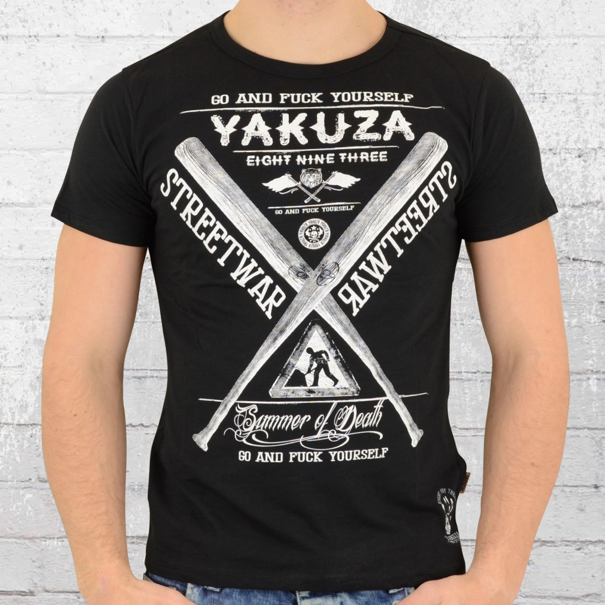 order now yakuza mens t shirt streetwear tsb 9011 black. Black Bedroom Furniture Sets. Home Design Ideas