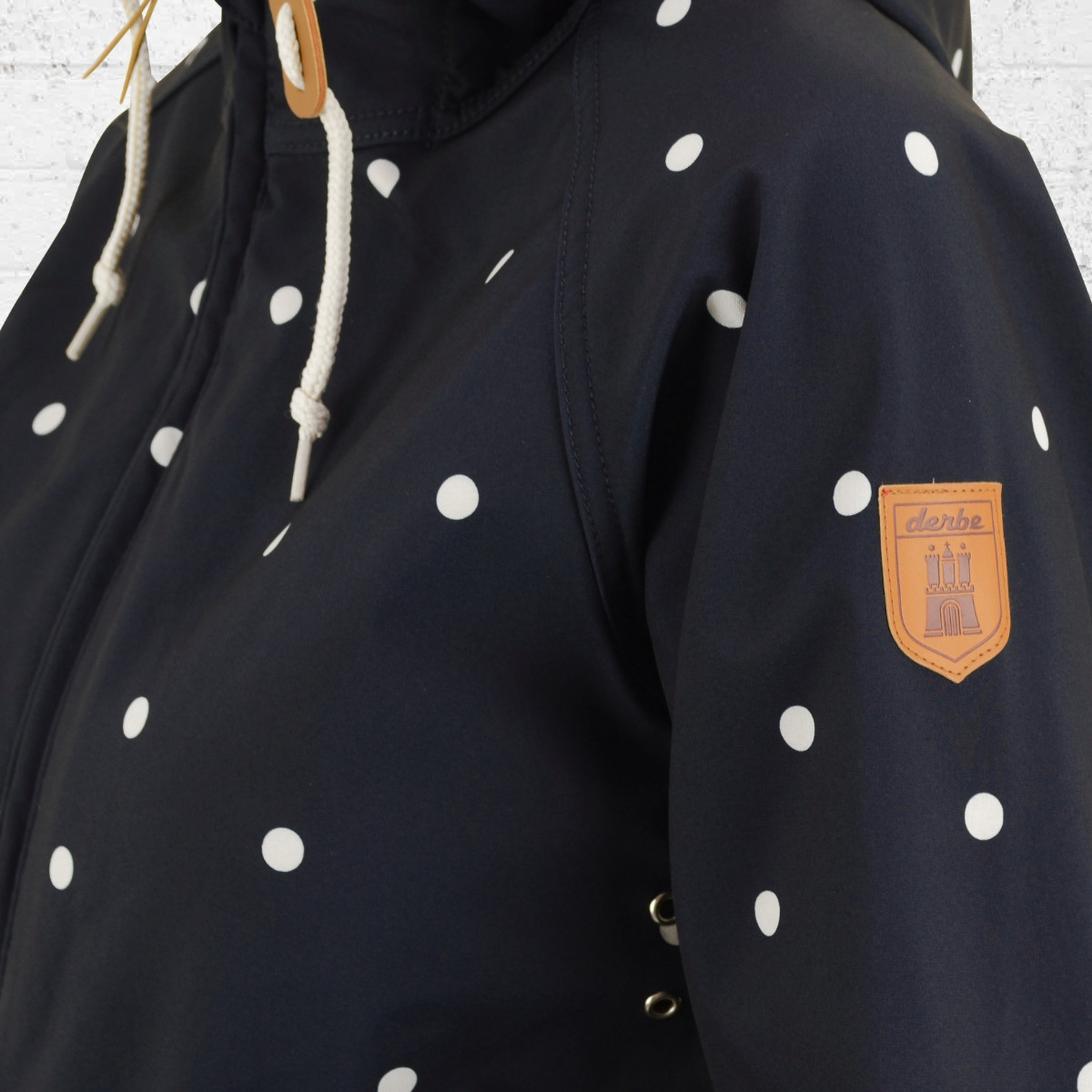 NowDerbe Coat Friese Ladies Jacket Order Island Navy Dots 0mOnwN8vy