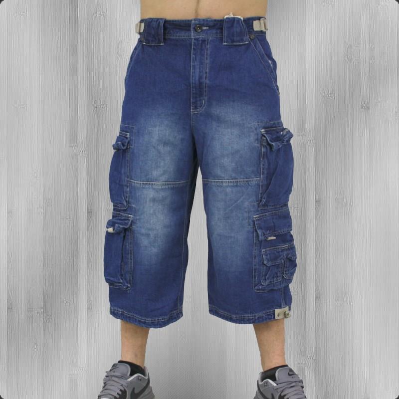 jet lag m nner dreiviertel shorts cargo jeanshose 007. Black Bedroom Furniture Sets. Home Design Ideas