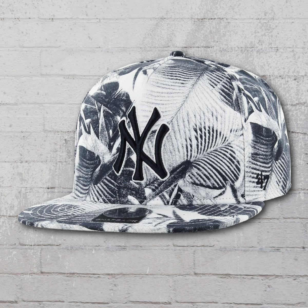 2e348048b5f57 47 Brand Baseball Bonnet Floral New York Yankees MLB Cap navy white