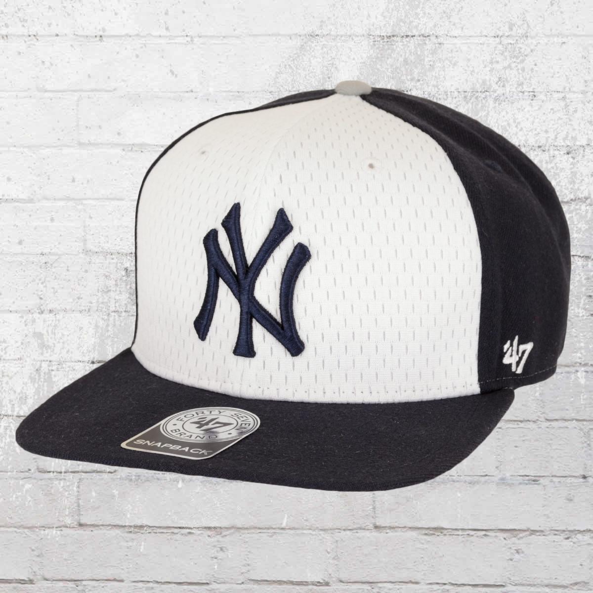 47 Brand MLB New York Yankees Snapback Baseball Hat navy white. ›‹ « 230f6a8fe612