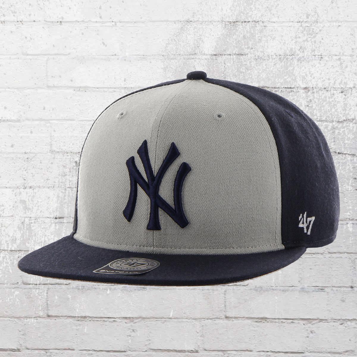 275b8210b33 47 Brand MLB Snapback Cap New York Yankees Baseball Hat navy grey