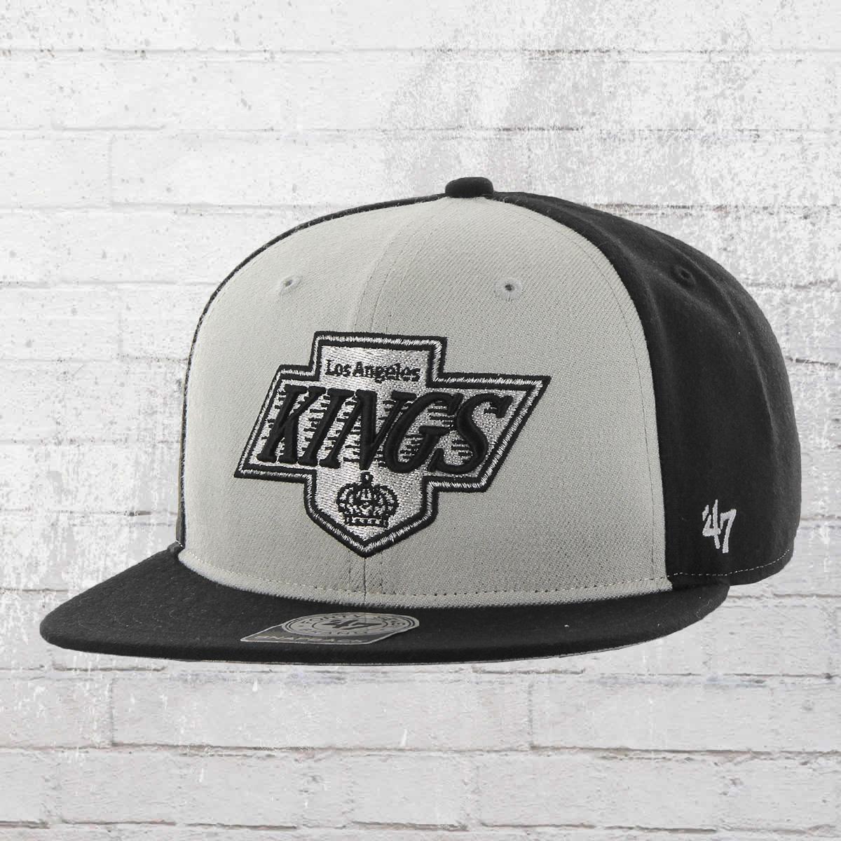 fe8a89a262b 47 Brand Snapback Cap NHL Los Angeles Kings Hat black grey