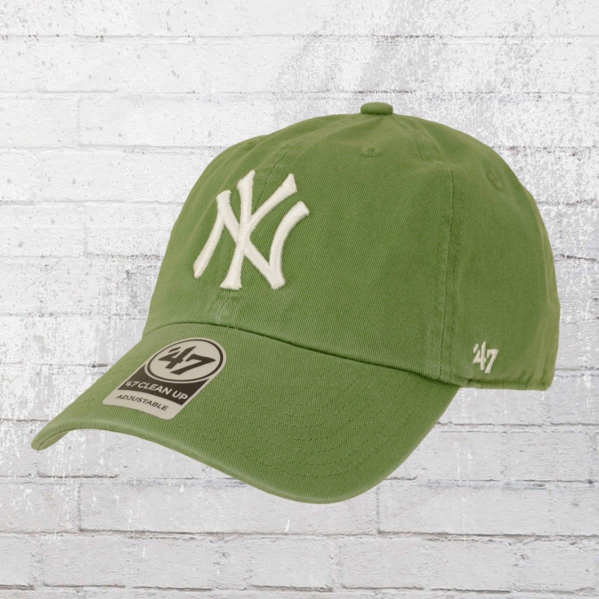 a09cea0e3ce 47 Brands Clean Up Baseball League Cap NY Yankees fatigue green. ›‹ «