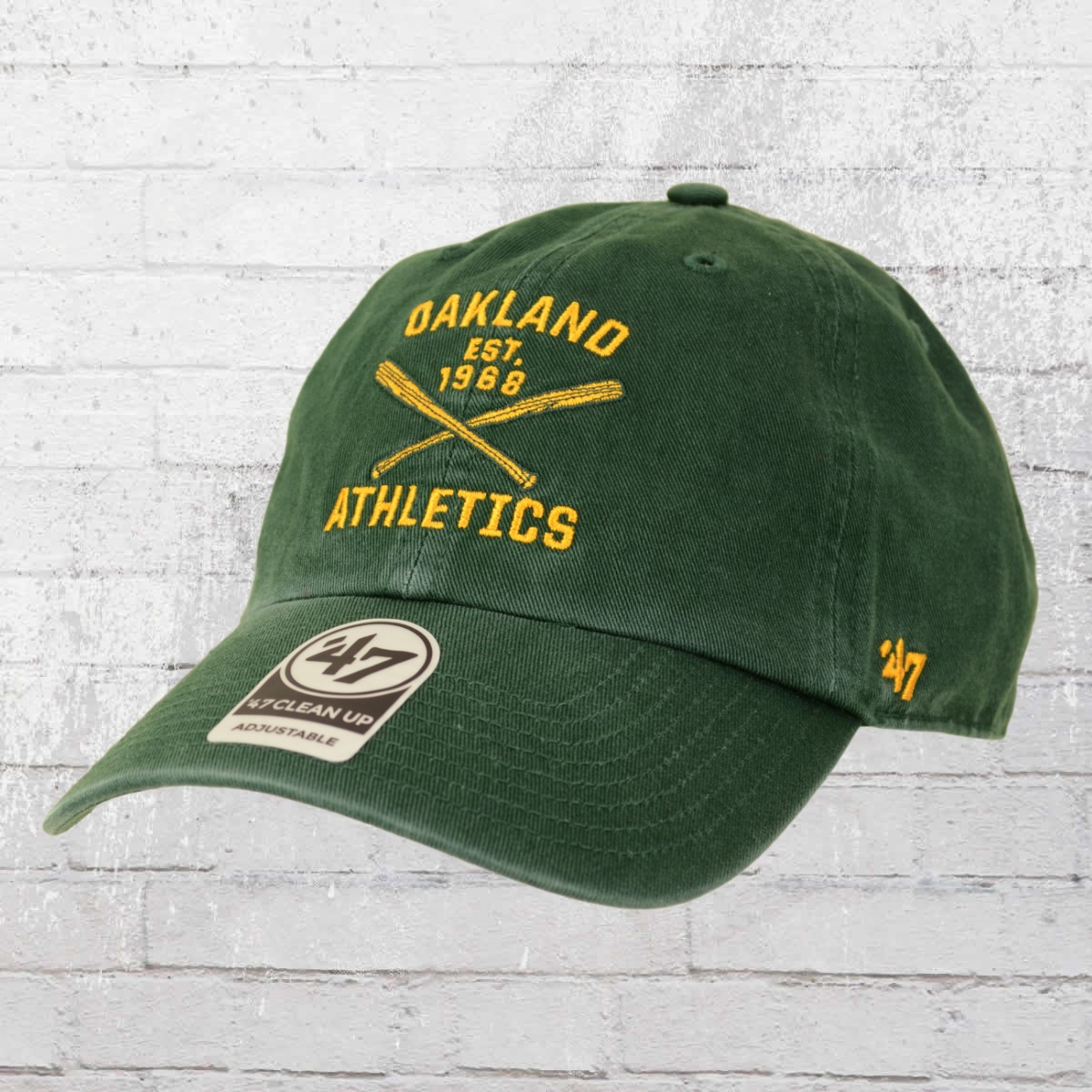 f70ce2a3 Order now   47 Brands Clean Up Cap Oakland Athletics vintage green