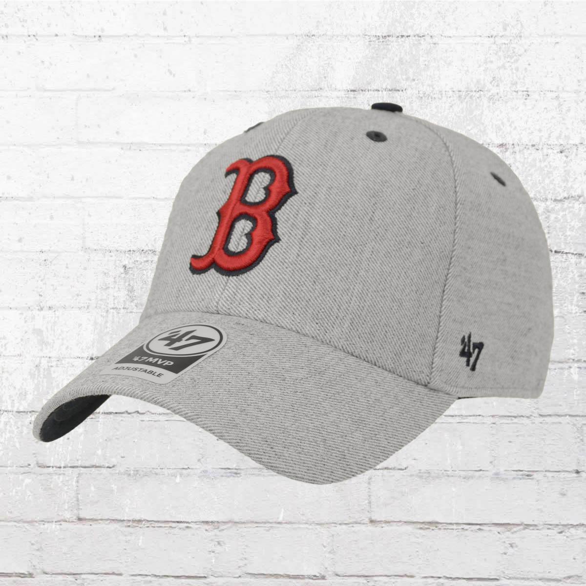 fde32ef169f ... promo code for 47 brands strapback hat boston red sox baseball team cap  grey melange.