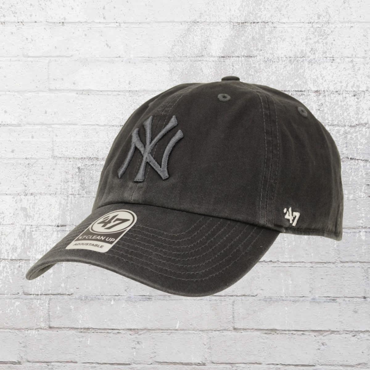 premium selection de2c0 bcbe1 47 Brands Team Cap New York Yankees Clean Up Hat dark charcoal. ›‹ «