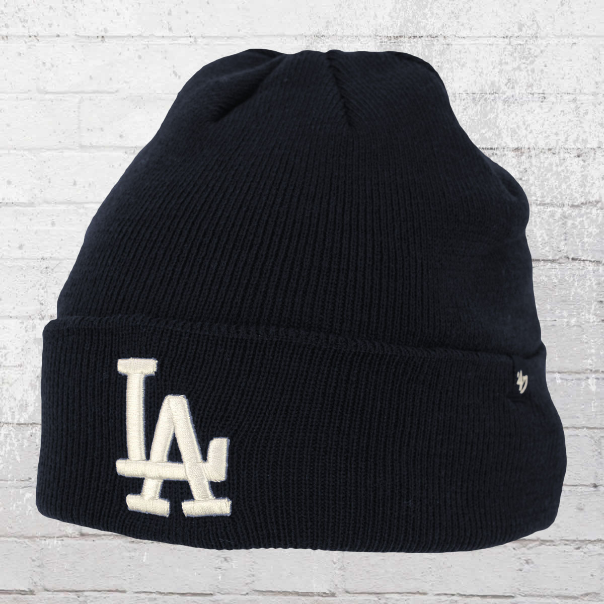 abacbe5a8e31a 47 Brands Winter Hat LA Dodgers Raised Cuff Knit Beanie blue ›‹. «