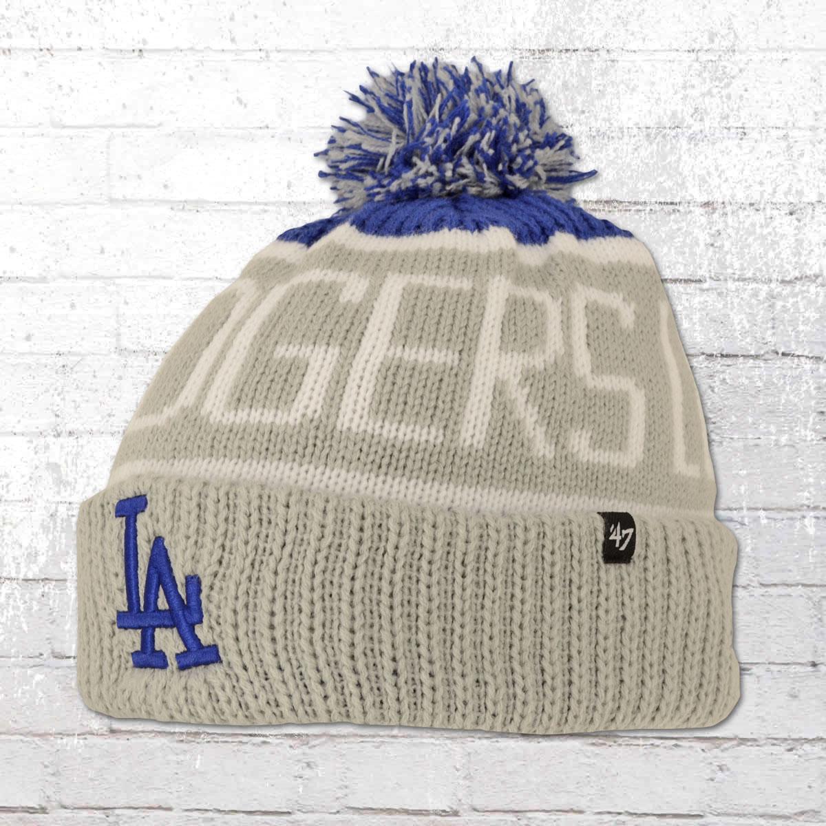 422ace0114b7b 47 Brands Winter Bobble Hat Los Angeles Dodgers Beanie grey. ›‹ «