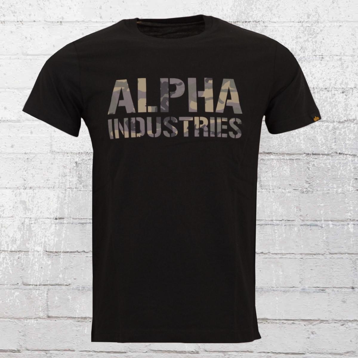official photos bc4e7 0d760 Order now | Alpha Industries Camo Print Male T-Shirt black