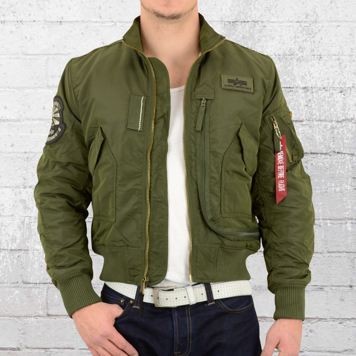 Alpha industries winterjacke dark green