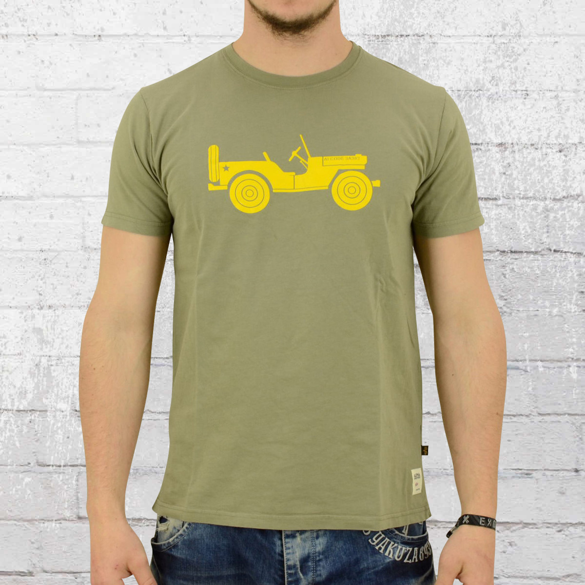 Alpha Industries Male T-Shirt Willys T olive