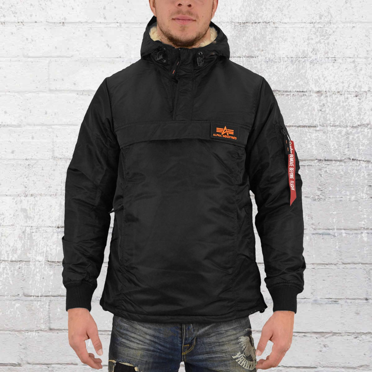 buy online 25469 71479 Order now | Alpha Industries Male Windbreaker HPO Anorak black