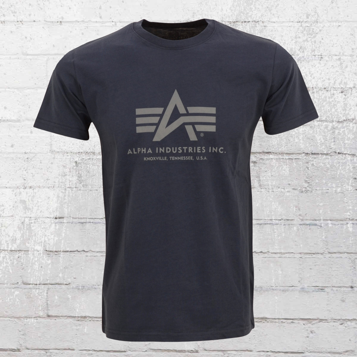 Alpha Industries Male T-Shirt Basic T dark blue. ›‹ «