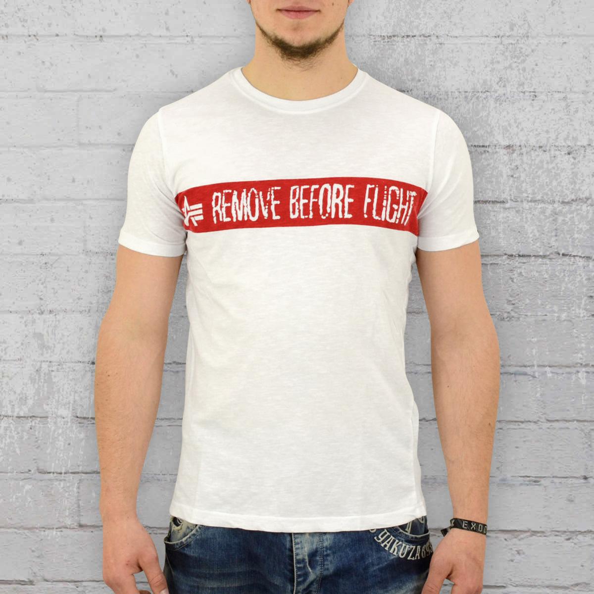 Alpha Industries T-Shirt Men RBFT white