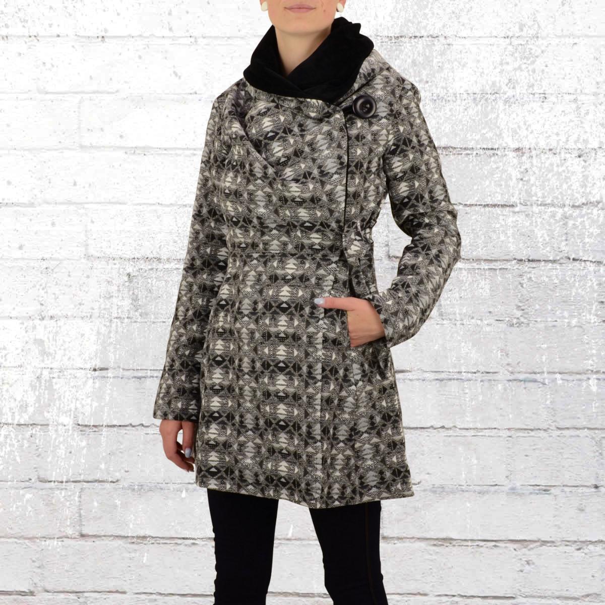 jetzt bestellen ato berlin damen kurz mantel bea schwarz grau weiss krasse. Black Bedroom Furniture Sets. Home Design Ideas
