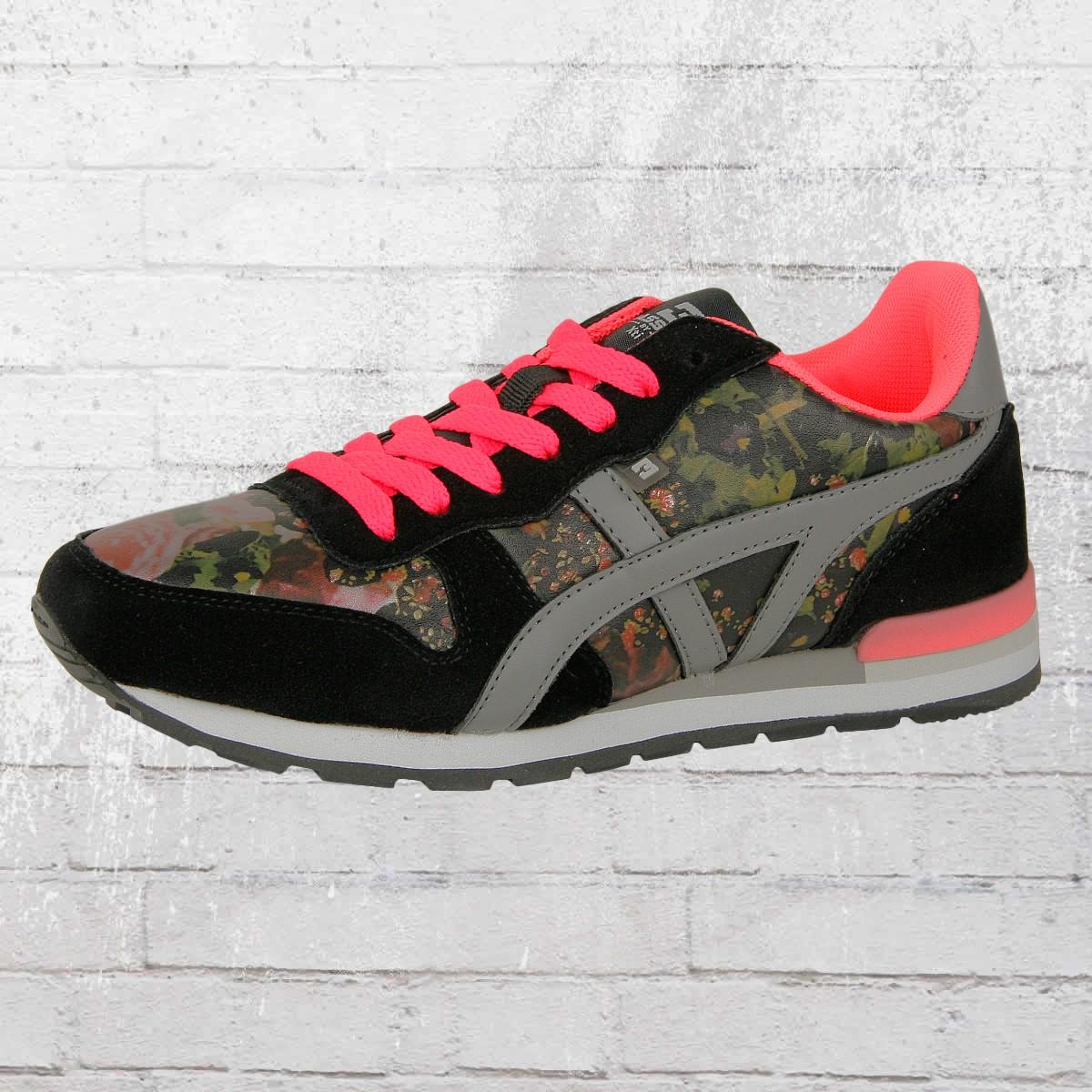 BASSED by Xti Frauen Schuhe Zapato Sra Flower Sneaker schwarz Damen Ladies Shoes