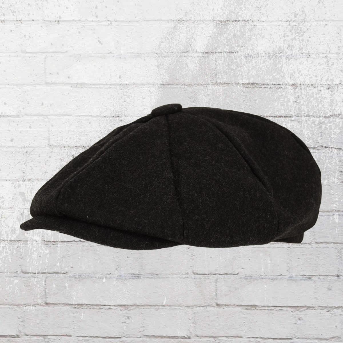 dbcc68fbcb4 Beechfield Melton Wool Baker Boy Newsboy Cap black. ›‹ «