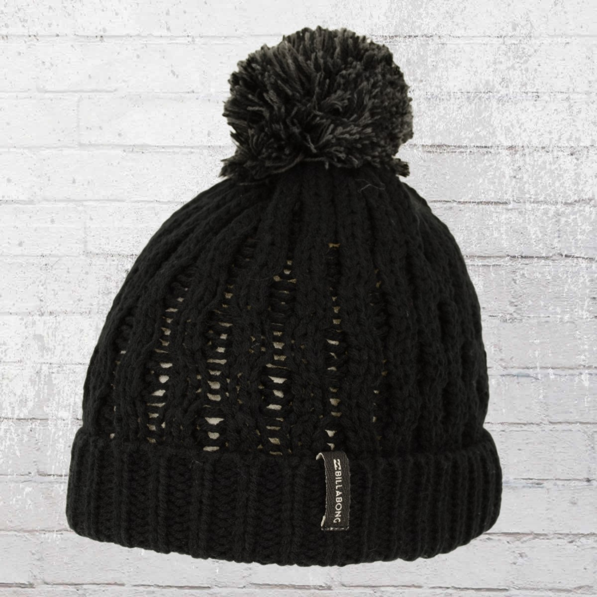 38bf0bbe013 Billabong Women Lined Bobble Knit Good Vibes Beanie black ›‹. «