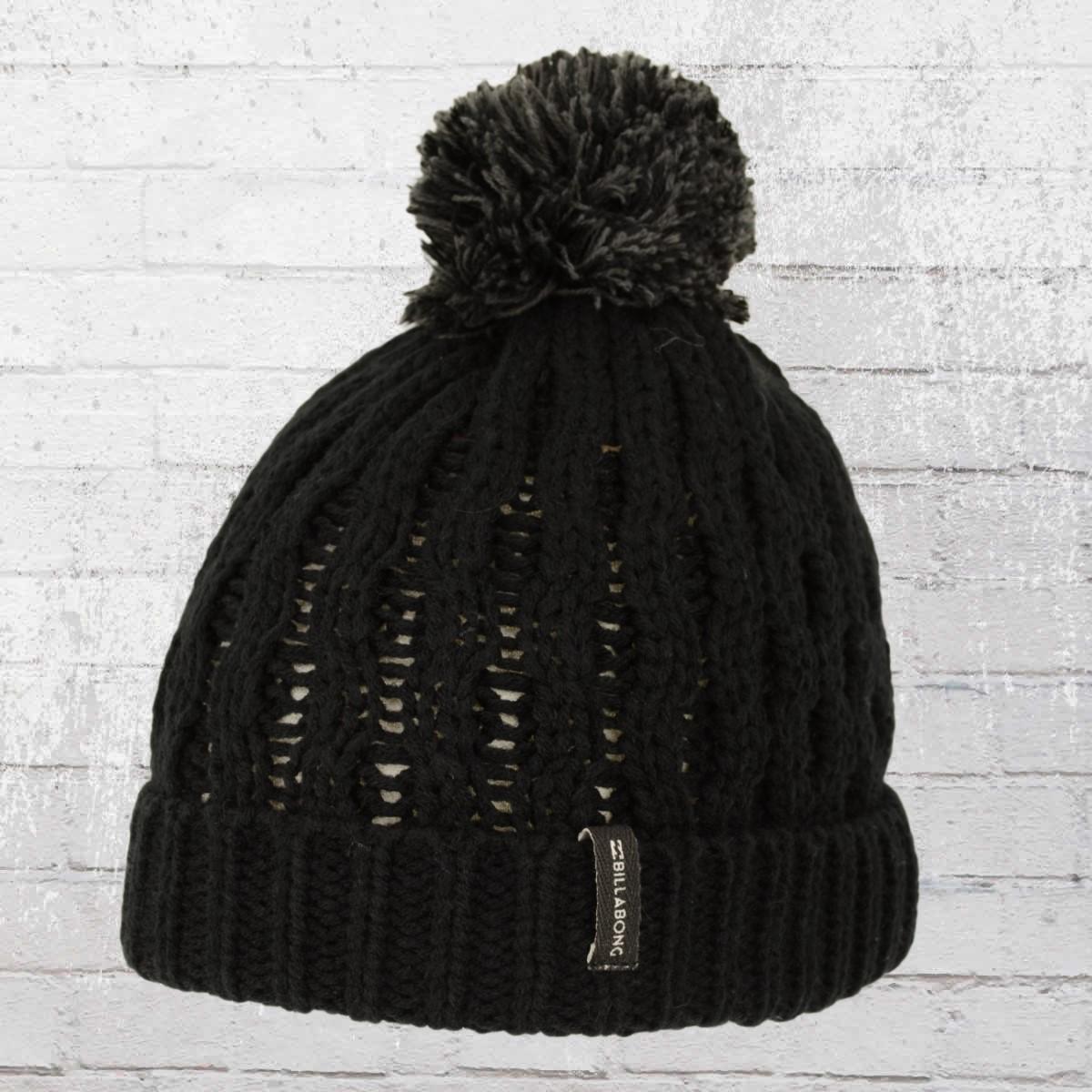 0a0bf459e4e Billabong Women Lined Bobble Knit Good Vibes Beanie black ›‹. «