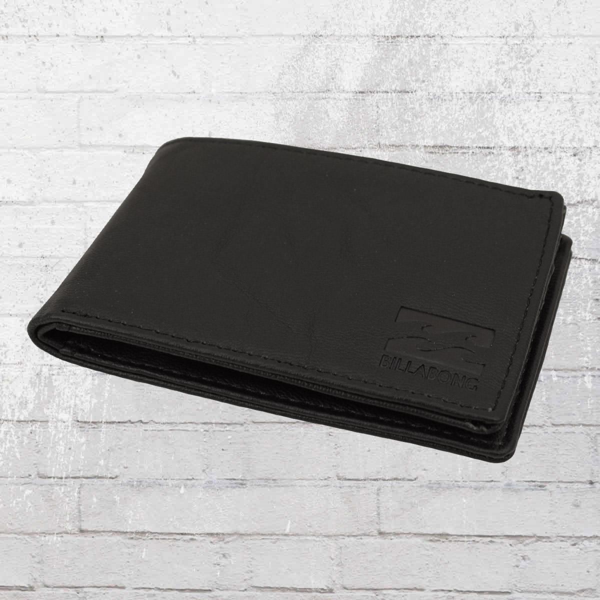 6d6c52cb4fd03 Billabong Kleines Portmonnaie Revival Flip Wallet schwarz. ›‹