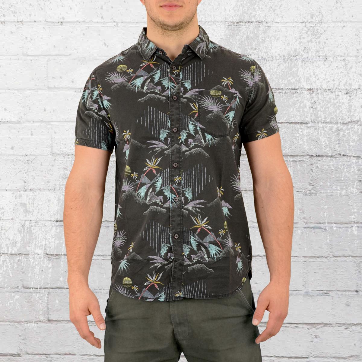 d1c7db533a7eb Billabong Mens Hawaii Shirt Sundays Floral black. ›‹