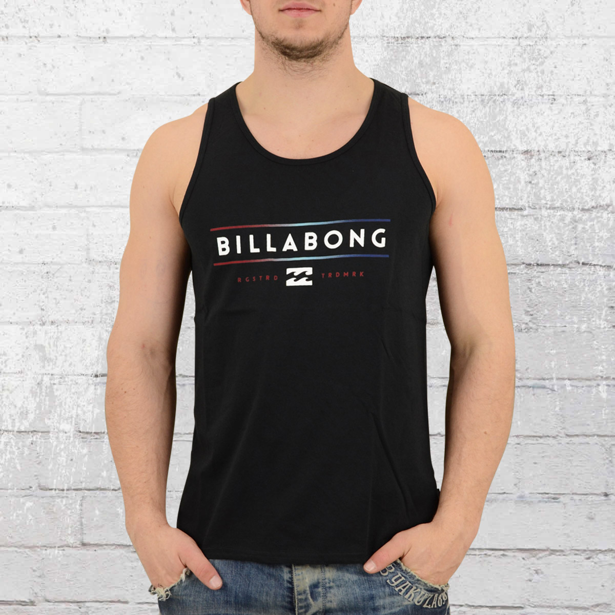 4beb2146ab444 Billabong Mens Singlet Unity Tank Top black. ›‹ «