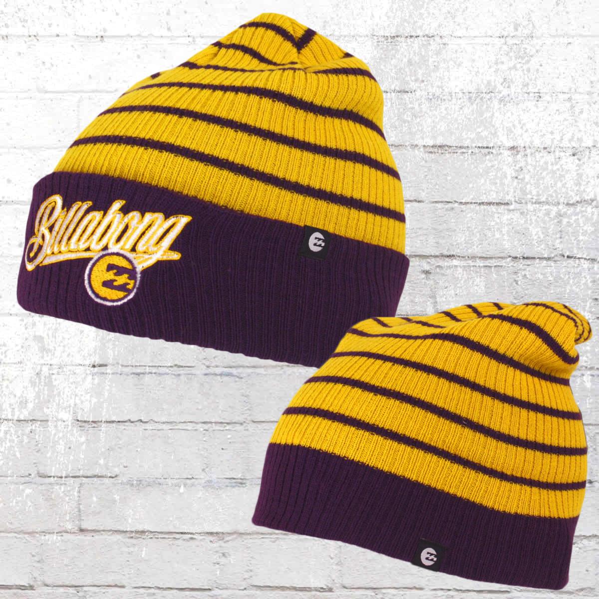 f871a054e23 Billabong Hat Stryker Beanie yellow purple. ›‹ «