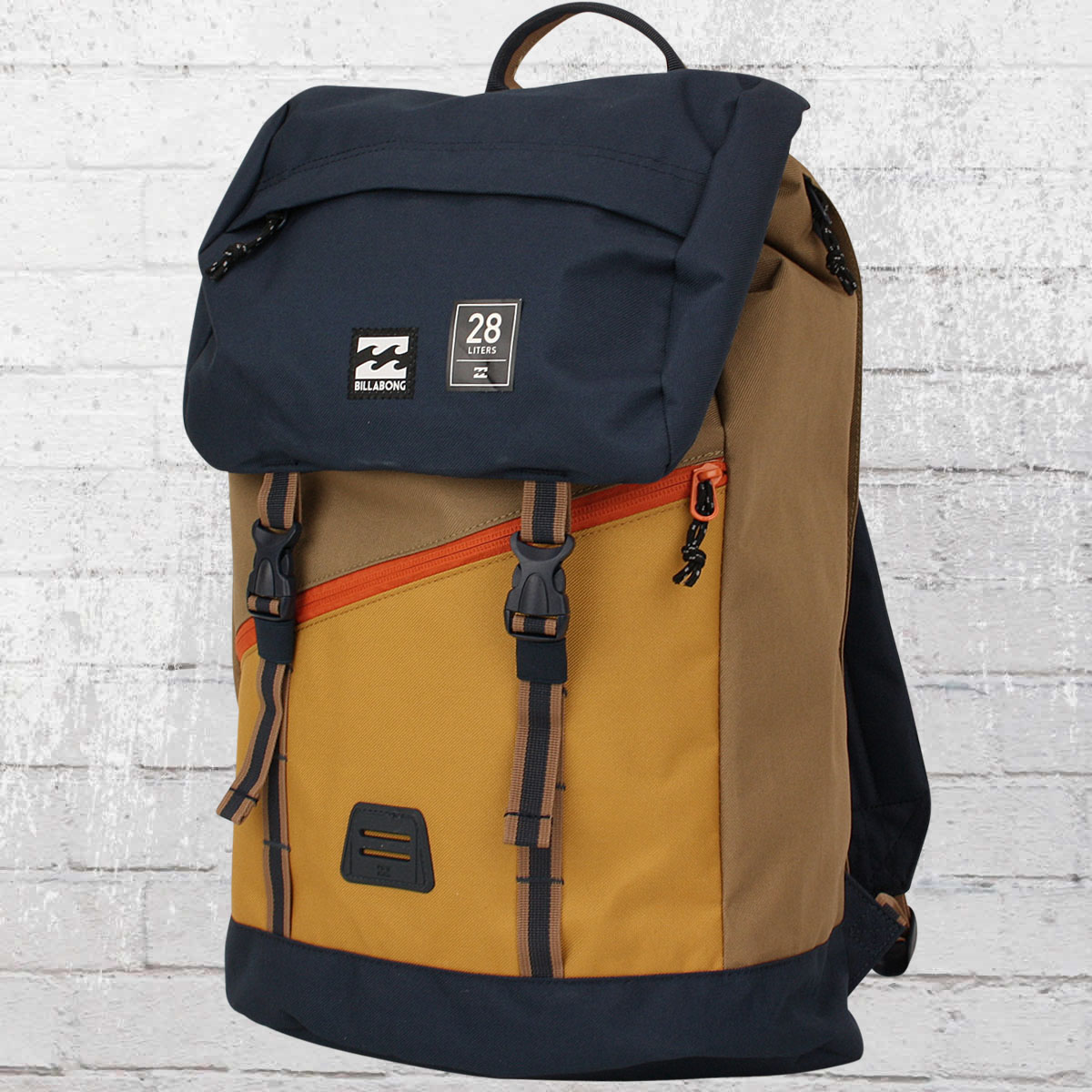 jetzt bestellen billabong track pack trekking rucksack mit laptop fach beige blau krasse. Black Bedroom Furniture Sets. Home Design Ideas