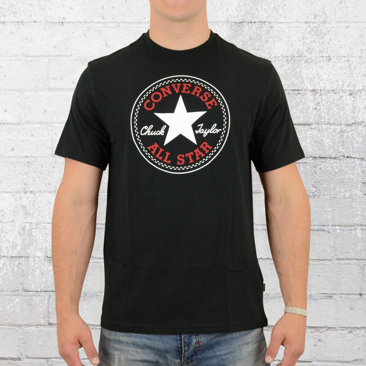 e150015070359b Converse Core Chuck Patch Tee Shirt Men black ›‹. «