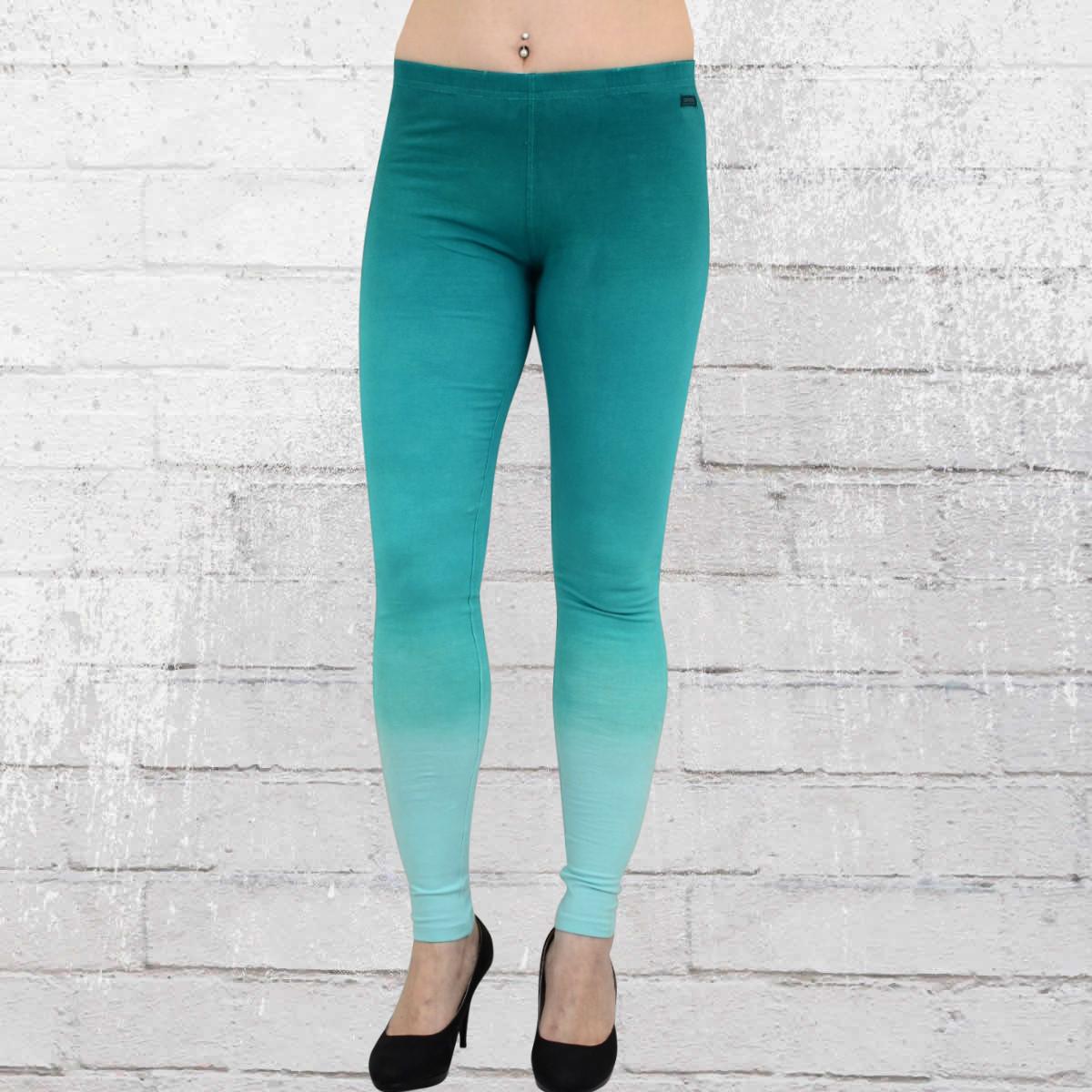 bf75b4a44bb8 Converse Womens Dip Dye Cotton Leggings turquoise