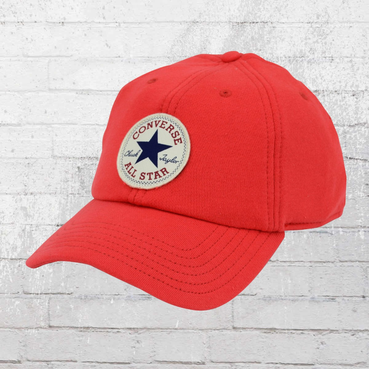 9fde4aa1 Order now | Converse Hat Lightweight Fleece Precurved Sweathsirt Cap red