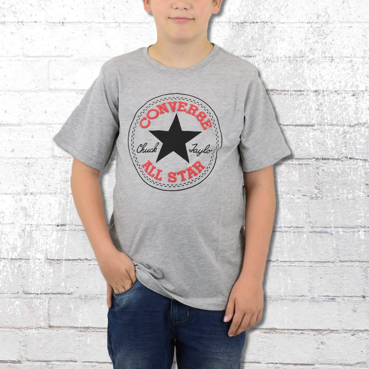 3c84dba6a986b Order now | Converse Kids T-Shirt Chuck Patch T grey heather