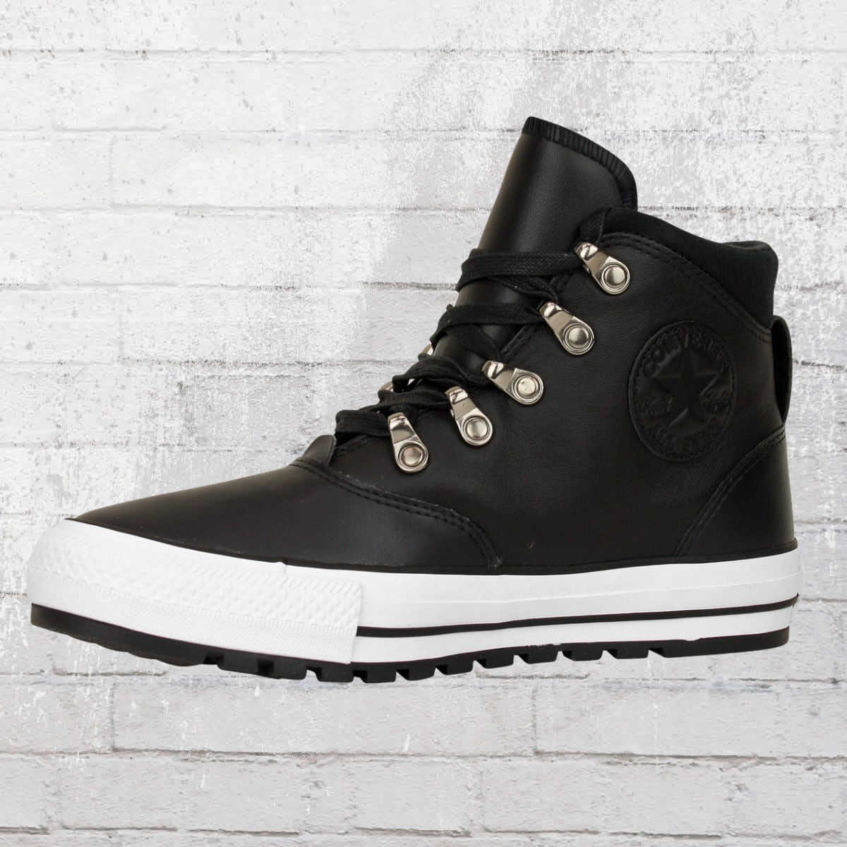 677a9561c1a073 Converse Leather Shoes 557916 C Ember Boot High black white. ›‹ «