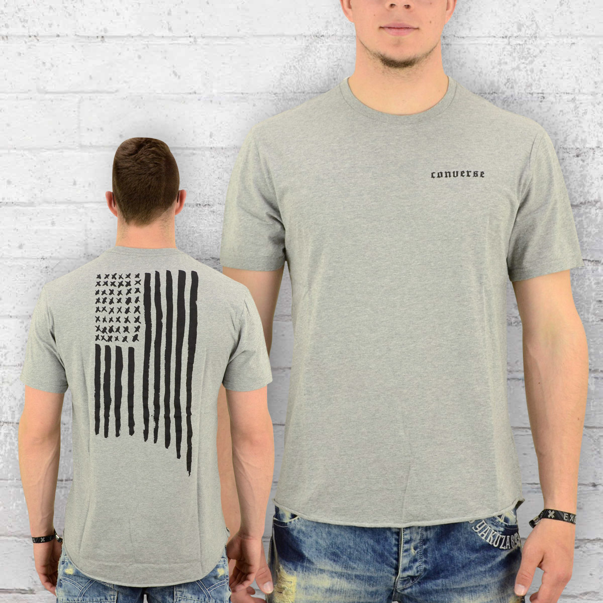283ea74b9f0 Converse T-Shirt Men Black Flag B-Ball Tee grey melange. ›‹ «